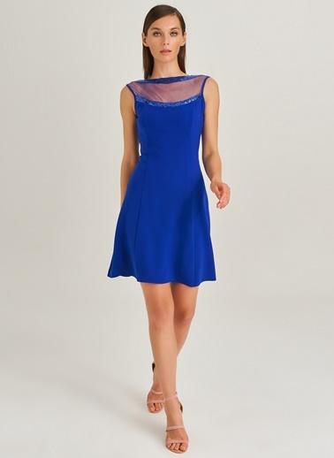 Yakası Payet Detaylı Elbis-People By Fabrika
